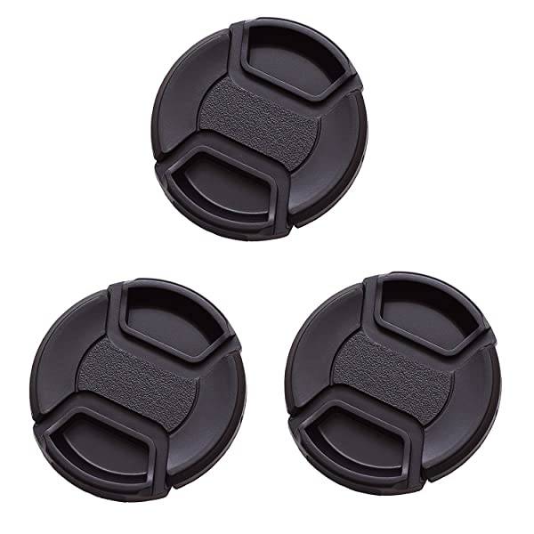 IMZ Lens Cap Bundle - 3 x 82MM Front Lens Filter Snap On Pinch Cap Protector Cover For DSLR SLR Camera Lens (Tamaño: 82 mm)