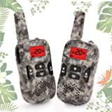 Walkie Talkies for Kids, Boy Toys Handheld Walkie Talkies with Flash Light 4 Miles 22 Channel 2 Way Radio kids Christmas Gifts 5-year old Boys and Girls Perfect for Outdoor Games Camping Hiking (Camo)