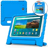 COOPER DYNAMO Kids case compatible with Galaxy Tab E 9.6 | Shock Proof Heavy Duty Kidproof Cover for Kids | Girls, Boys | Kid Friendly Handle & Stand, Screen Protector | Samsung SM-T560 T561 (Blue) (Color: Blue, Tamaño: Samsung Galaxy Tab E 9.6)