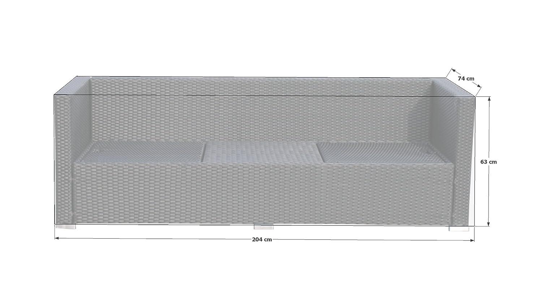 Hülle Mulisofa Ibiza/Pepe PVC Gewebe Grau 350g
