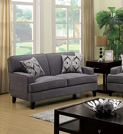 Furniture of America Taylor Classic Love Seat, Gray