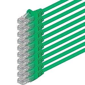 1aTTack - Cable de red UTP con conectores RJ45 (cat. 6) verde- 10 Unidades  Informática más noticias y comentarios