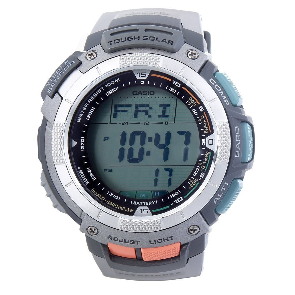 Casio Men&#8217;s PAG80-1V Pathfinder Altimeter/Barometer/ Digital Compass Solar Digital Watch $109.99