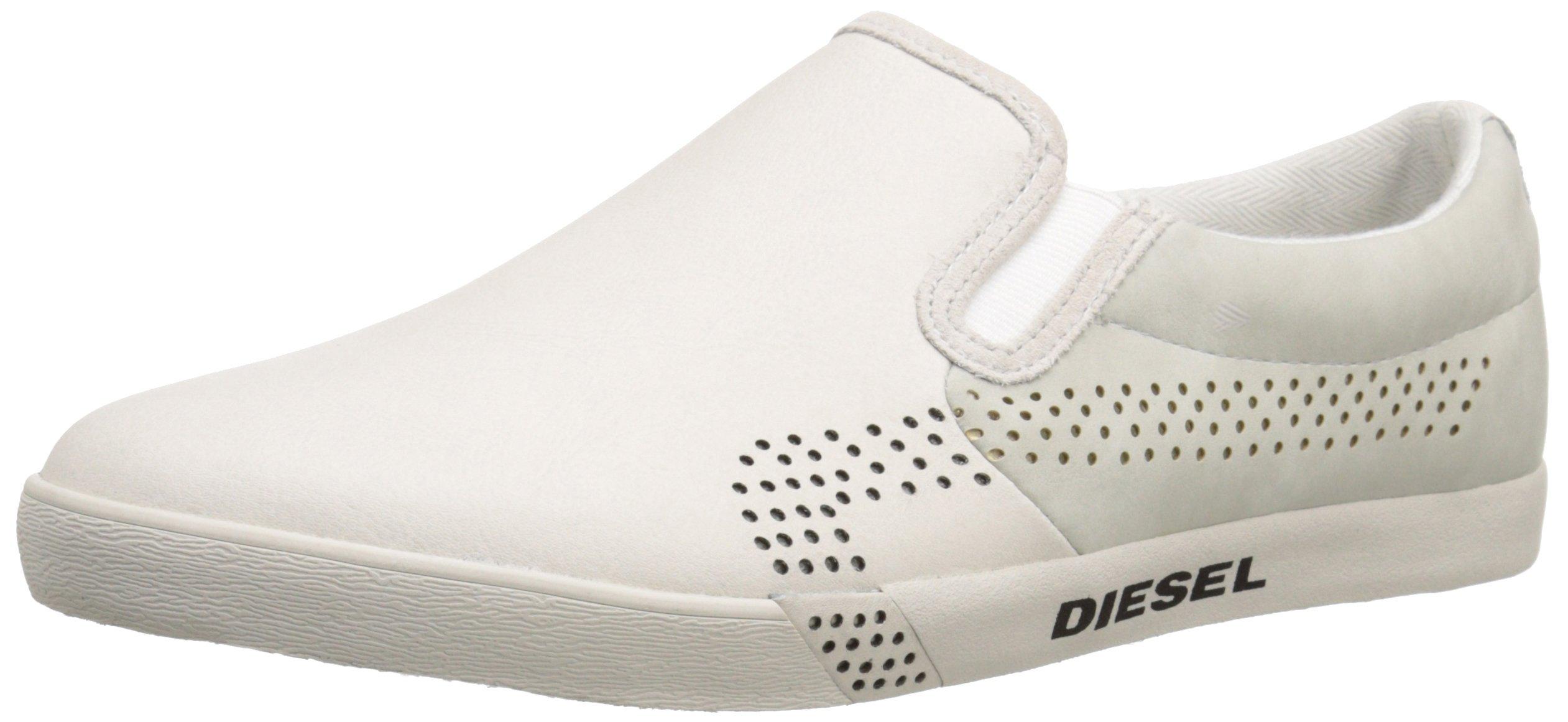 Giầy chính hãng Diesel Men's Rikklub E-Klubb On Fashion Sneaker màu Vaporous Gray, size 7 US/39 EU