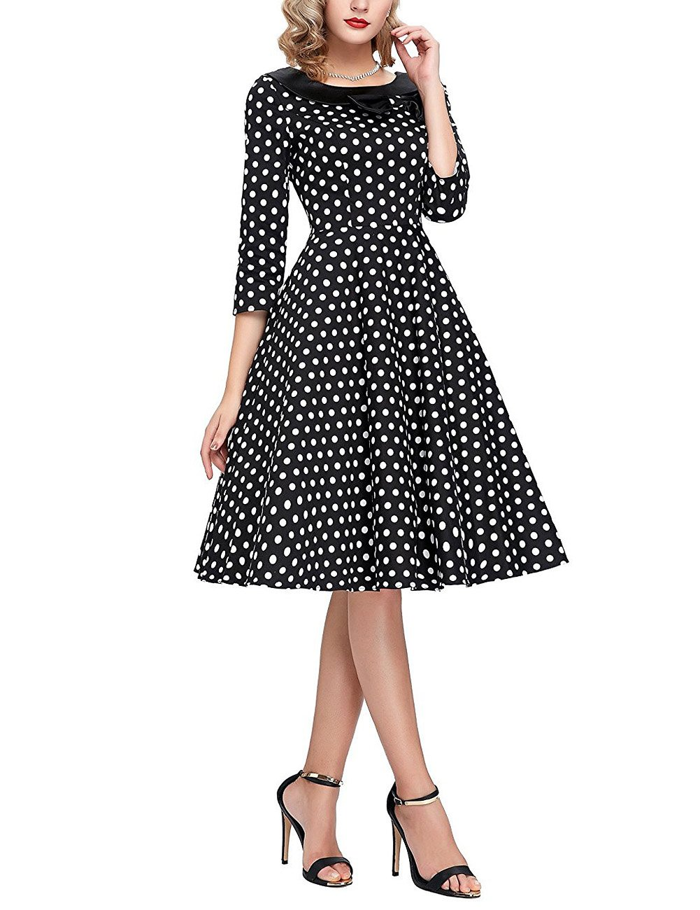 GlorySunshine Women's Vintage Swing Polka Dot Dress 3