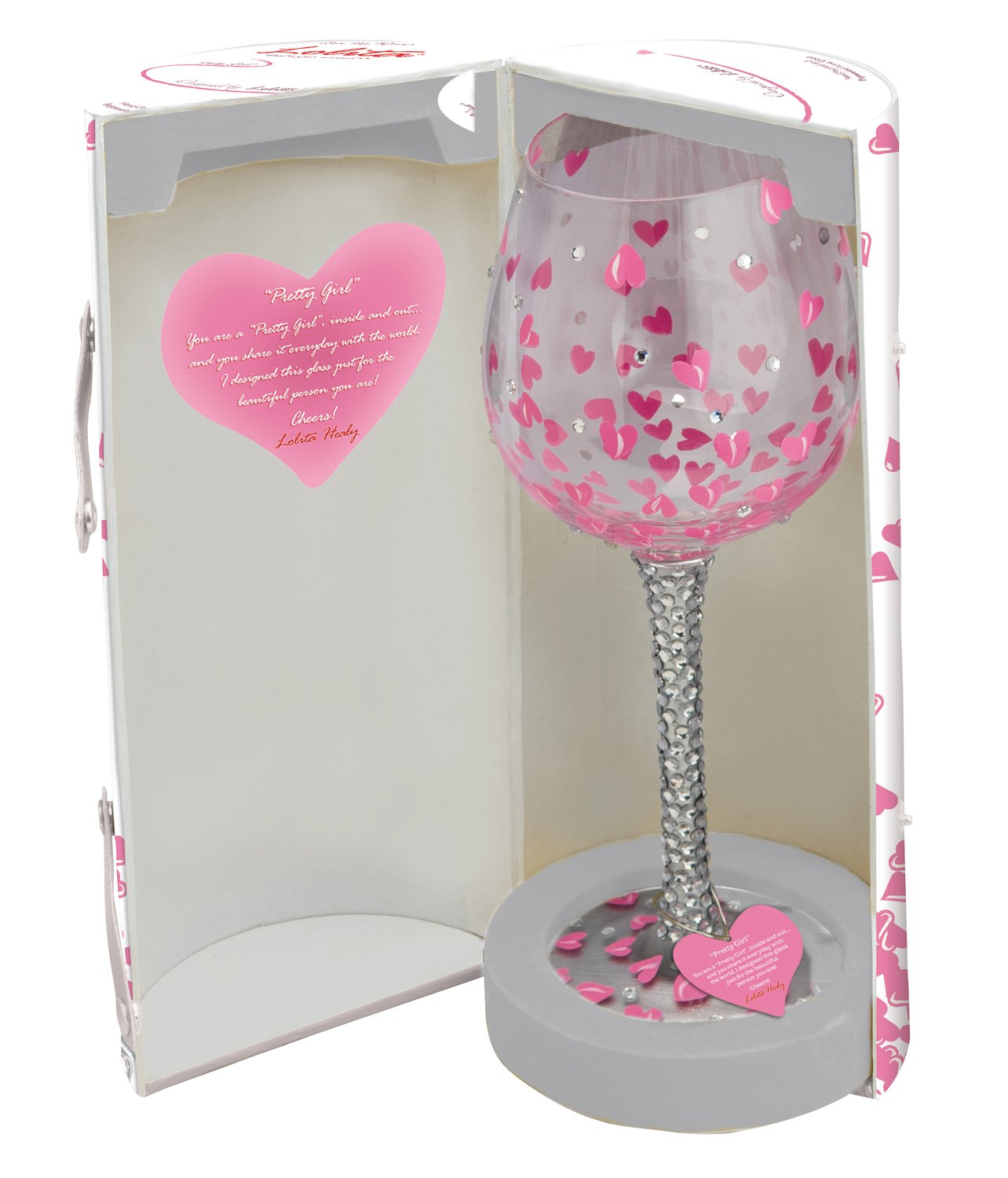Lolita Super Bling Collection Pretty Girl Wine Glass