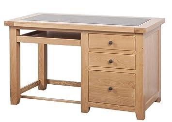 Devonshire Oak Computer Desk/Office Desk Solid Oak Fully Assembled