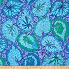 Kaffe Fassett Collective Big Leaf Blue Fabric