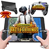 Mobile Game Controller | iPad Mini/iPad Pro Gaming Handle & Trigger | Tablet Gaming Grip | Plug and Play L1 & R1 Trigger & Handle | Gamepad for PUBG | Fortnite | Knives Out | Rules of Survival | iOS & (Color: Black, Tamaño: 140 x 110x 17 mm)