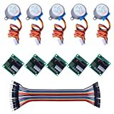 Keywish 5 sets 28BYJ-48 ULN2003 5V Stepper Motor + ULN2003 Driver Board for Arduino