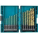 Makita B-65399 Impact Gold 14 Pc. Titanium Drill Bit Set, 1/4