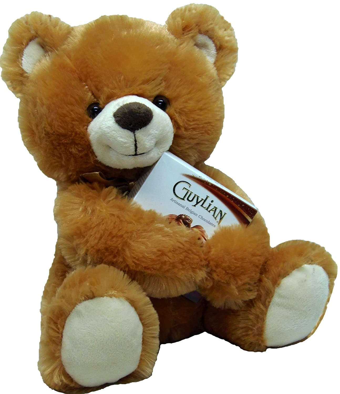 Delight Expressions® 13″ Chocolate Bear Gourmet Gift – A Mother's Day Gift Idea – Birthday or Get Well Gift
