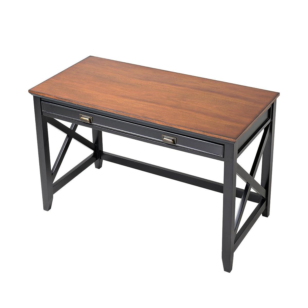 Homestar Writing Desk with 1 Drawer, Natural Wood Veneer