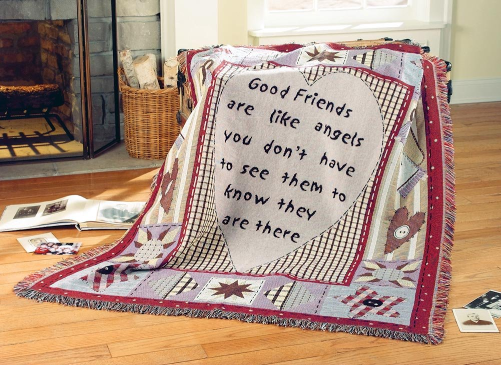 Friends & Family Embroidered Throw Blanket