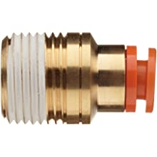 SMC KQ2SS PBT One-Touch Tube Fitting with Sealant, Hexagon Socket Head Adapter, Tube OD x NPT Male with Brass Threads