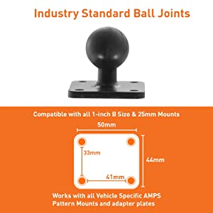 iBOLT TabDock AMPs - Heavy Duty Drill Base Mount for All 7 - 10 Tablets (iPad, Samsung Tab) for Cars, Desks, Countertops: Great for Commercial Vehicles, Trucks, Homes, Schools, and Businesses
