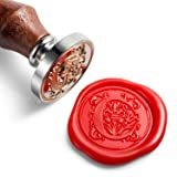 Mceal Wax Seal Stamp, Silver Brass Head with Wooden Handle, Regal Letter C (Color: c)