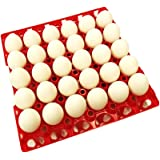 48 RITE FARM PRODUCTS 30 EGG POLY CHICKEN TRAYS SHIPPING CARTON POULTRY FLAT (Color: Red, Opaque)