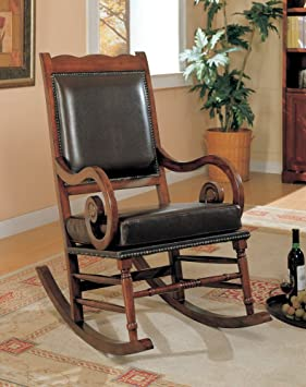 Prime Coaster Traditional Rocking Chair Nailhead Trim Style Andrewgaddart Wooden Chair Designs For Living Room Andrewgaddartcom