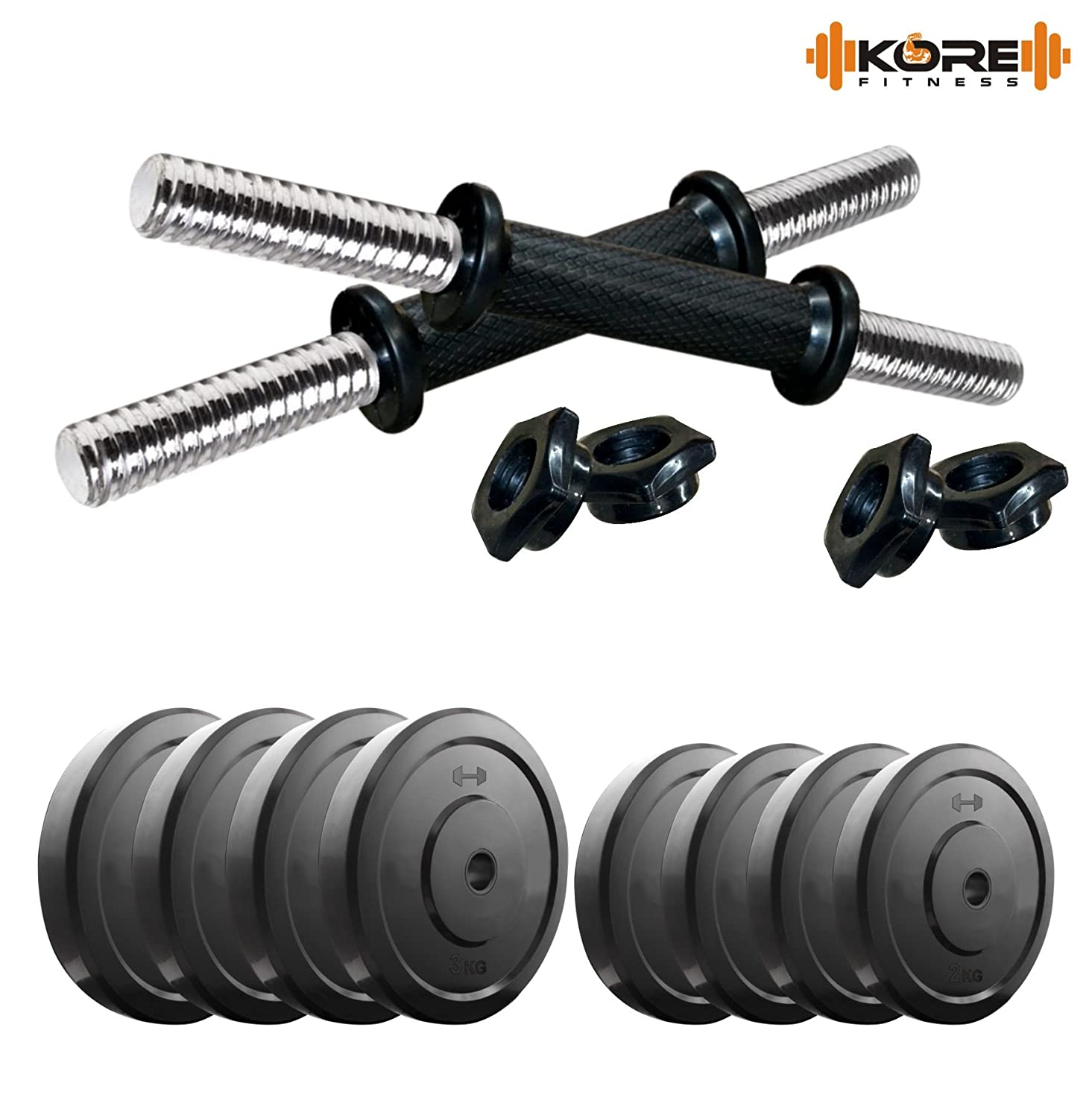 Sports Essentials Under @ Rs.999 By Amazon | Kore DM-20KG COMBO16 Dumbbells Kit @ Rs.964