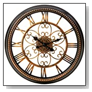 Gilded Age Finish 20.5 Inch Large Round Wall Clock