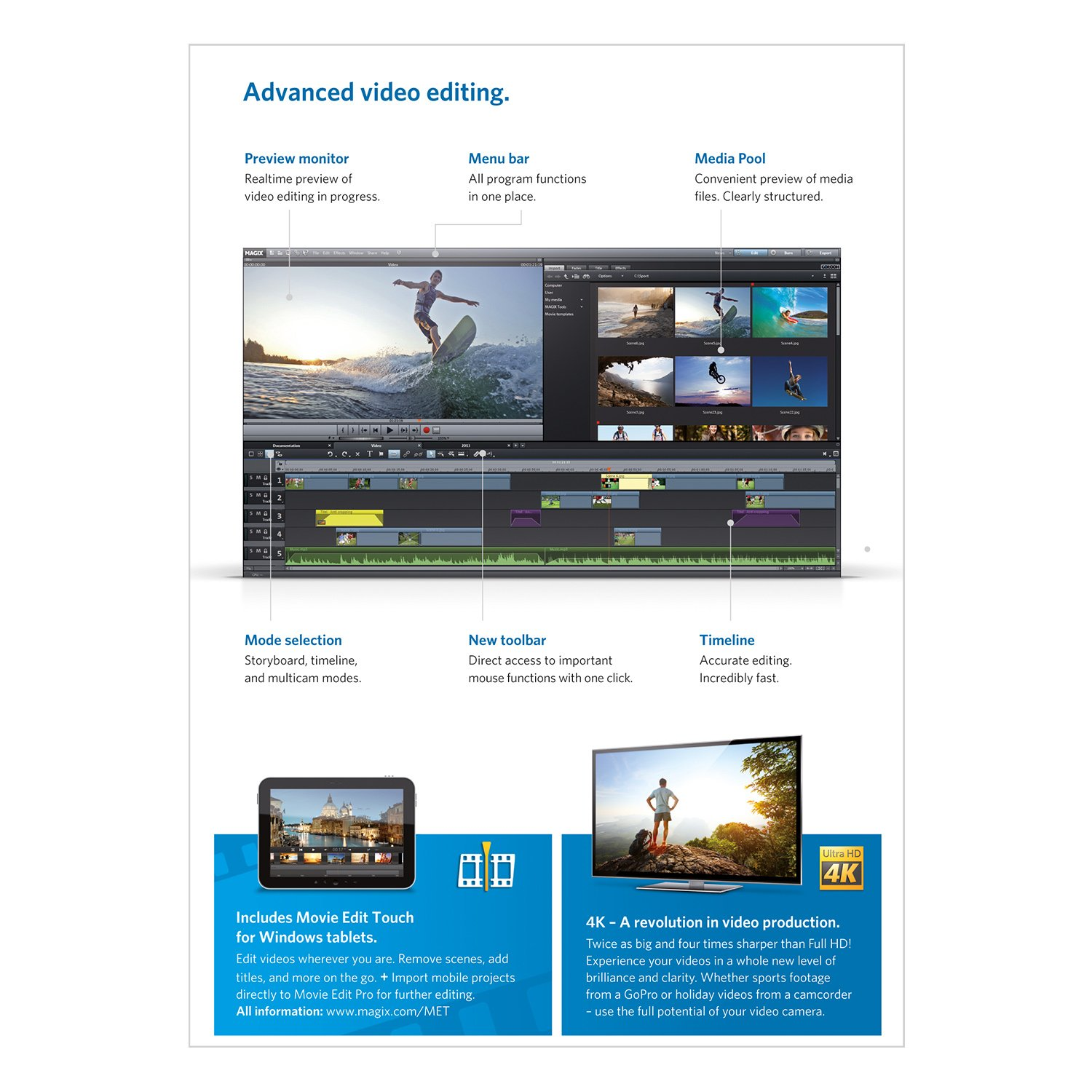 Magix movie edit pro 2014 plus free trial download for for Magix movie edit pro templates