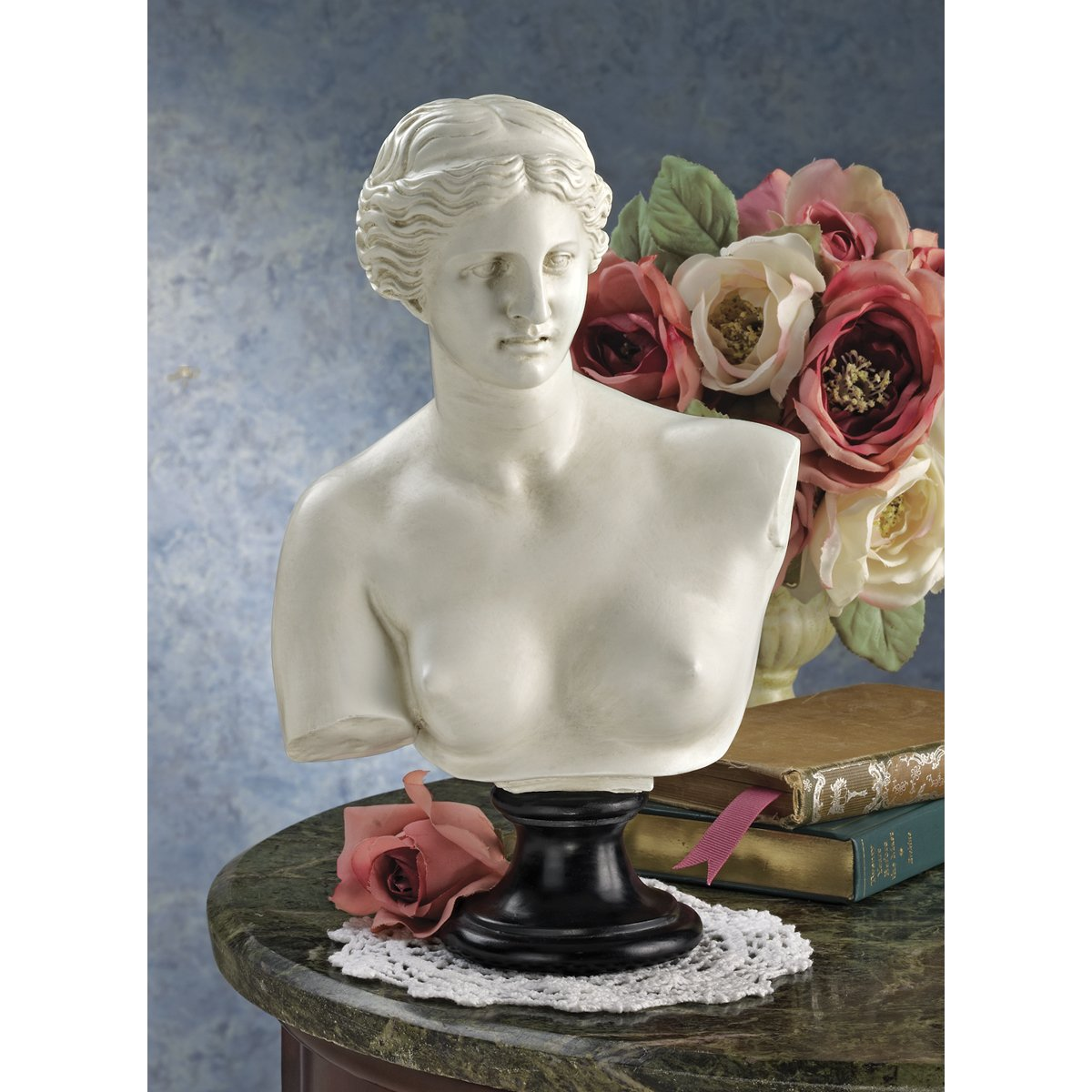 "12"" Classic Greek Beauty Venus De Milo Sculpture Bust Statue Sculpture Figurine"