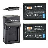 DSTE® 2x BP-1030 Battery + DC124 Travel and Car Charger Adapter for Samsung NX200 NX210 NX300 NX-300M NX1000 NX1100 NX2000 Camera as BP-1130