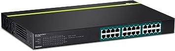 TRENDnet TPE-TG240g Commutateur PoE+ Gigabit 24 Ports Noir