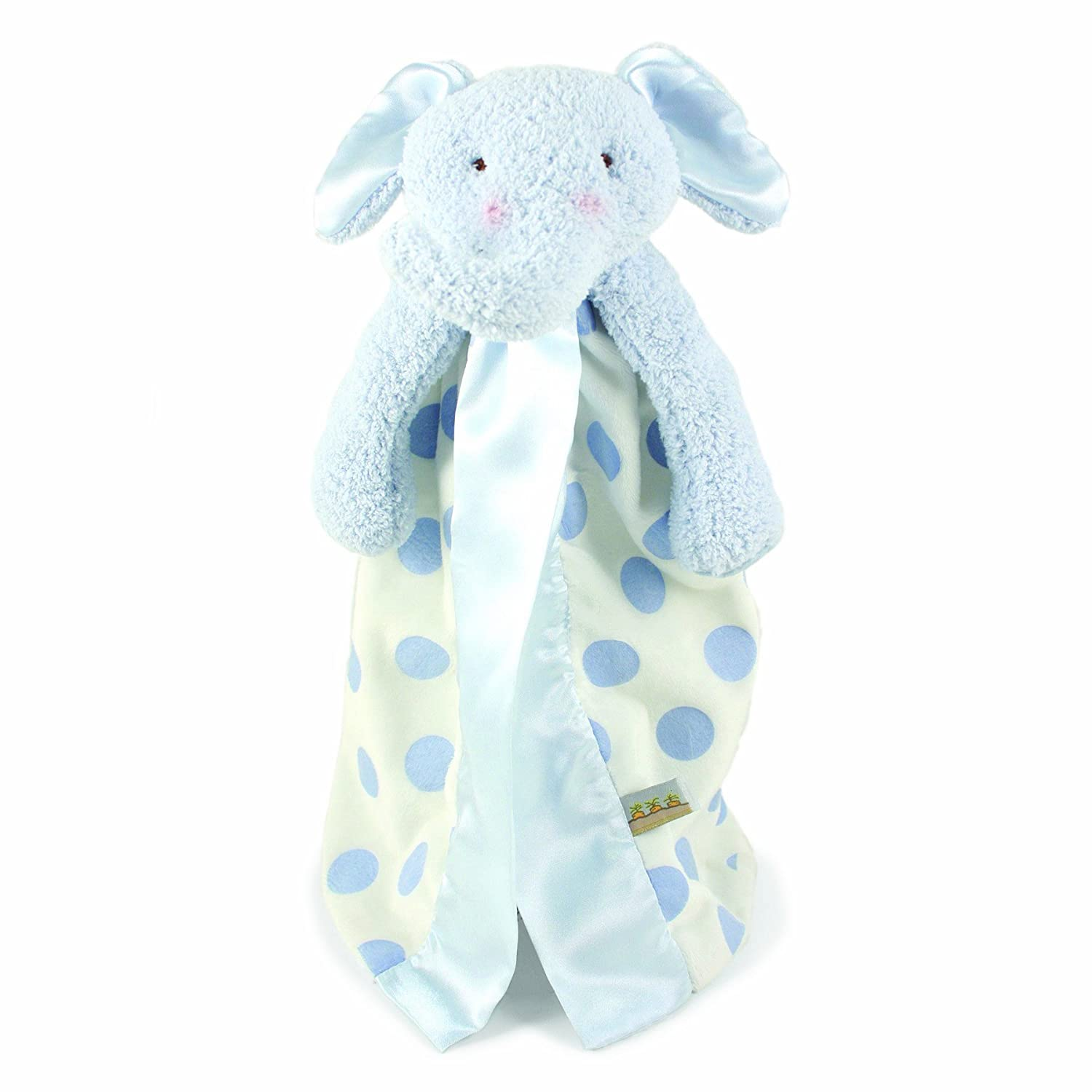 Bunnies By The Bay Peanut Buddy Blanket, Blue Polka Dot