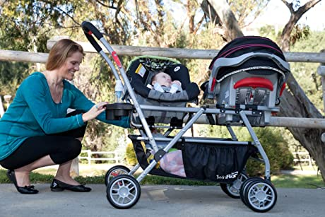 The best strollers for twins - Joovy Twin Roo Car Seat Stroller