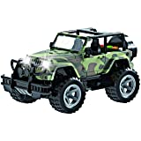 Think N Thrill Off-Road Military Fighter Jeep for Kids – Friction Powered Toy Car with Cool Fun Lights and Sounds - Great Holiday Gift Idea for Boys & Girls Ages 3 + Years Old