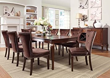 Brown Finish Dining Table