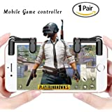 LYFZ Mobile Game Controller,Gaming Trigger L1/R1 Fire Button Aim Key For PUBG Mobile / Fortnite / Rules of Survial (Color: Black)