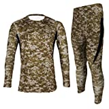 Jagger Men's Fleece Camouflage Running Cycling Jersey T-Shirt Pants Sets XXL Brown (Color: Brown, Tamaño: US L(Asian XXL))