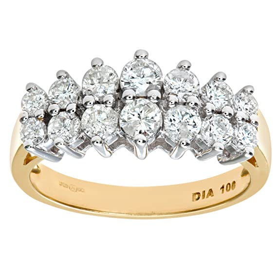 Naava 9ct Yellow Gold Ladies Diamond Ring