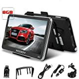 Xgody 5 Inch Portable Car GPS Navigation with Sunshade Sat Nav Touch Screen Built-in 8GB 128MB RAM FM Lifetime Map Updates Speed Limit Displays Spoken Turn-By-Turn Directions Commercial GPS for Trucks (Color: 560F+Sunshade)