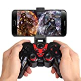 MOSTOP Bluetooth Controller with Clip Android Game Controller Wireless Gamepad for Android Phone/PC/Tablet with Clip and Bag (Color: Red)