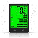 Speedrid Bike Computer Large LCD Backlight Display, Wireless Speedometer Waterproof, Bicycle Odometer Motion Sensor Multi-function for Cycling Accessories (Advanced) (Color: Large)