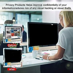 Magicmoon Privacy Filter Screen Protector, Anti-Spy&Glare Film for 20 inch Widescreen Computer Monitor (20'', 16:9 Aspect Ratio) (Tamaño: 20 Widescreen (16:9))