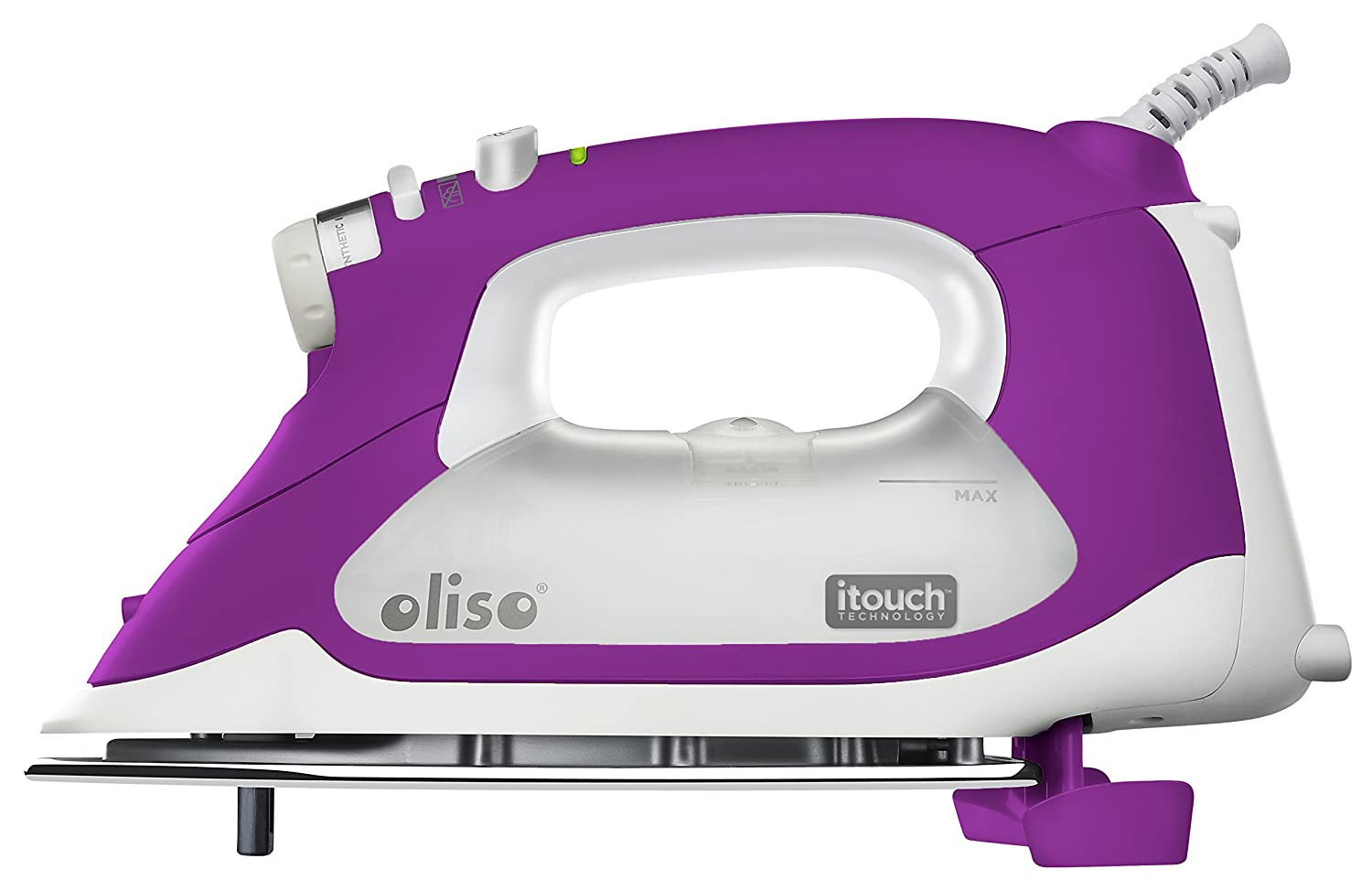 Oliso® TG1100 Smart Iron / Steam Iron- iTouch Self Lifting Technology - Auto Shut Off - Multiple Steam Iron Options - 1800W - Extra Long Cord 10