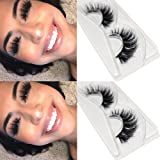 CGlashes Top Quality Long Thick 3D Mink False Eyelashes Wispy Reusable Instant Eye Lift Effect 1 Pair Package (TOP-1) (Tamaño: TOP-1)