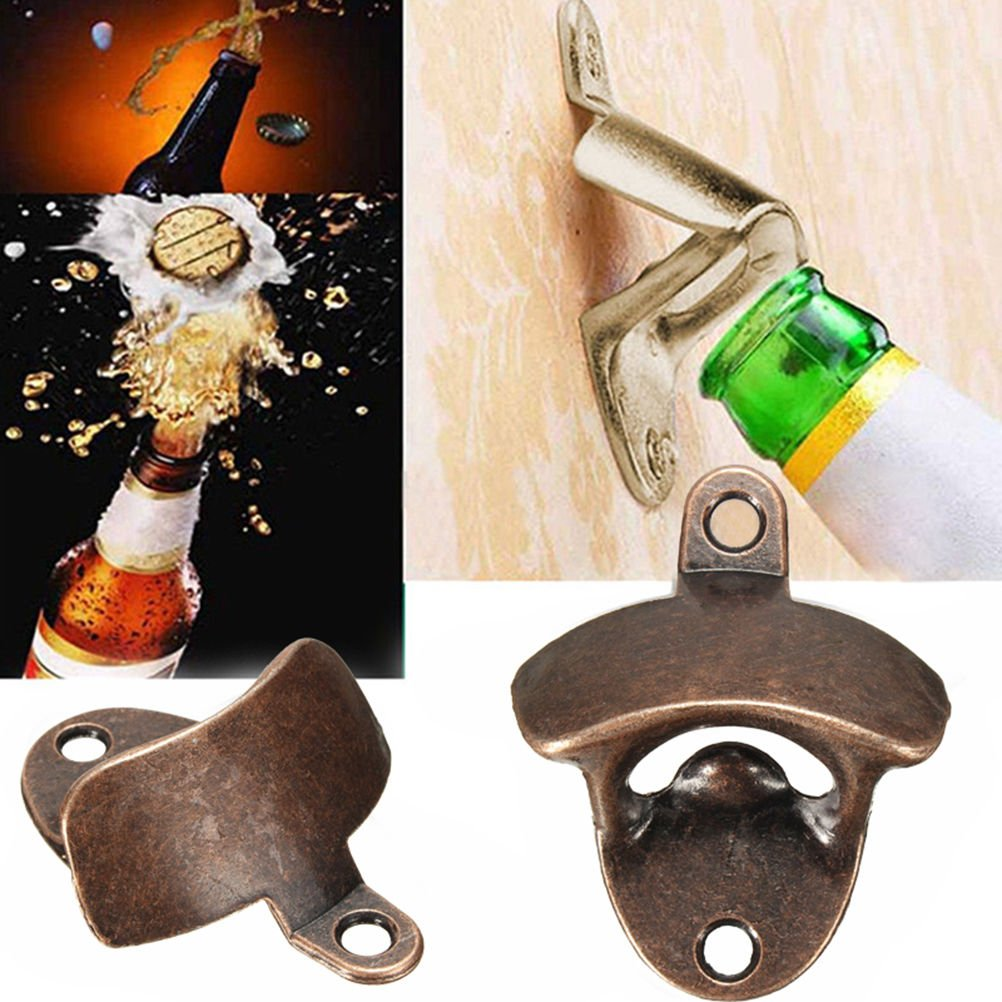 Vintage Wall Mounted Bottle Opener, Bronze, Beer Bottle Cap Opener with Two Screws 4