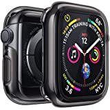 Penom Black Case for Apple Watch Screen Protector Series 4 44mm, Ultra Thin iWatch 44mm Screen Protector with Full Protection TPU Cover (Color: Black, Tamaño: 44mm)