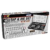 Performance Tool W4002DB 40-Piece Metric Tap And Die Set (Color: Silver, Tamaño: 40-Piece Metric Tap And Die Set)