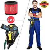2-Piece Set Magnetic Wristband & Drill Holster Combo - Men's Best Unique Tool Gift, DIY Handyman, Father/Dad, Husband, Boyfriend, He (Color: Red+Camouflage green, Tamaño: 3.5 * 14.8 inches)