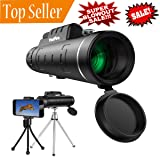 Monocular, HoFire High Power Telescope Monocular Scope,12X52 HD Dual Focus - BAK4 Prism FMC - Low Light Night Vision - Waterproof Fog - proof Shockproof Scope with Phone Clip and Dual Tripod (12X50)