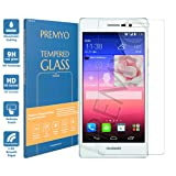 PREMYO Ascend P7 tempered glass. Huawei Ascend P7 screen protector with 9H hardness and 2.5D round edges. Huawei P7 glass screen protector