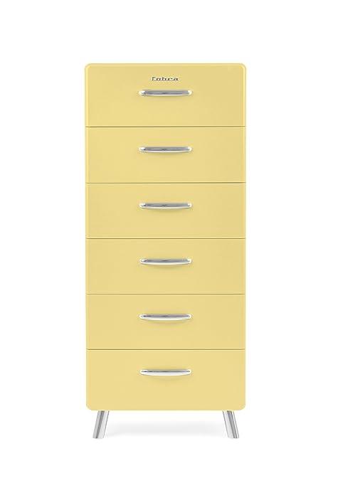 Tenzo 4916-075 Cobra Designer Kommode Holz, pastellgelb, 43 x 56 x 130 cm