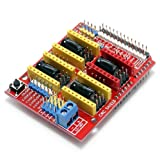 Gowoops CNC Shield V3 Engraver 4 Axis Control Expansion Board for Arduino 3D Printer